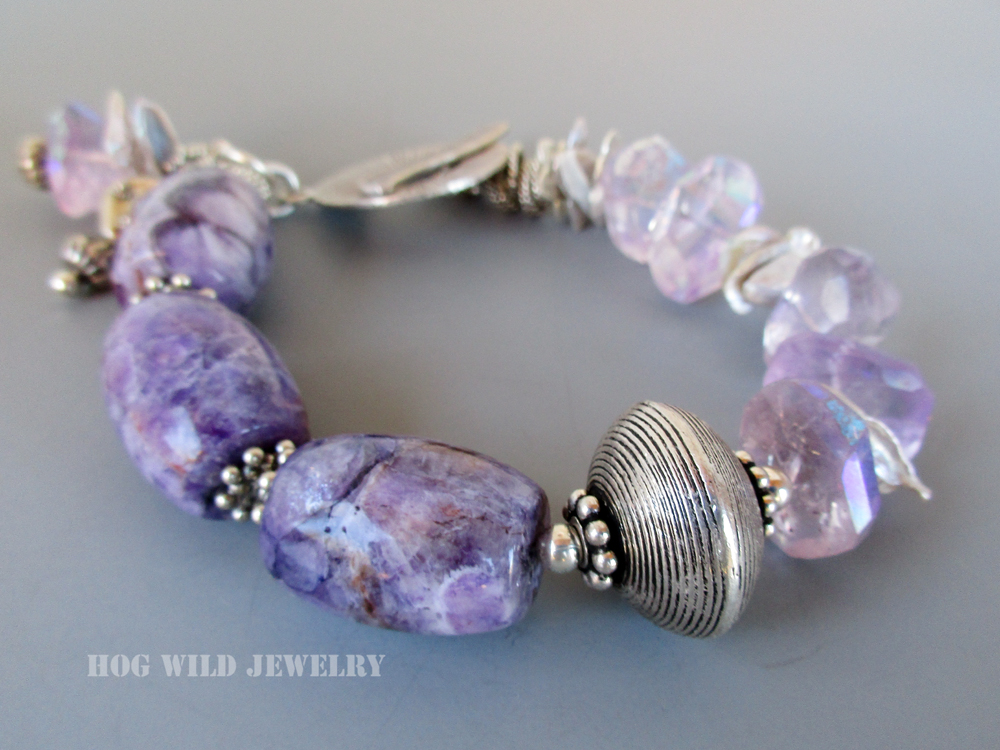 amethyst barrels bracelet C1