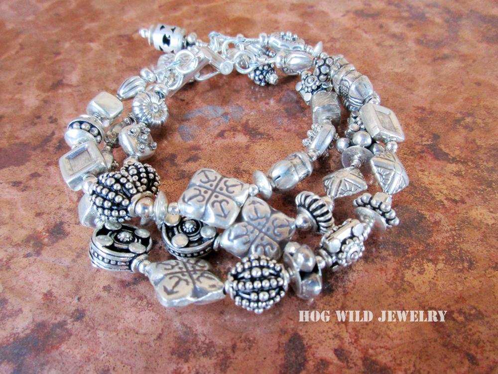 bali silver bracelet C1