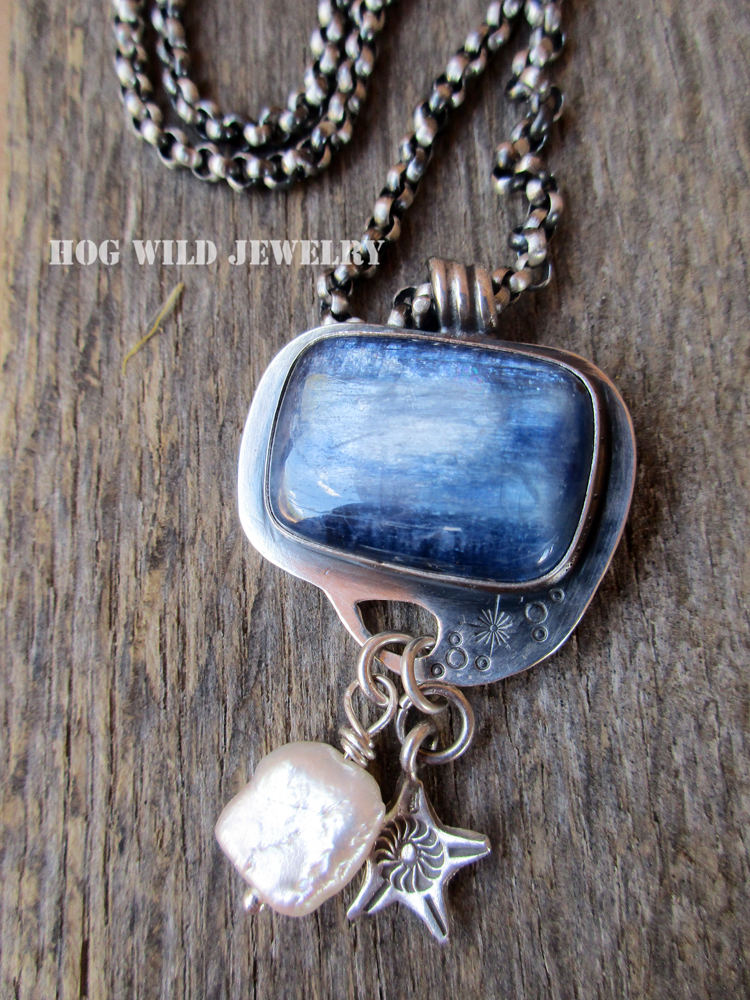 Artisan handcrafted silver smith blue kyanite gemstone pendant the shop the shop artisan handcrafted silver smith blue kyanite gemstone pendant necklace mozeypictures Choice Image
